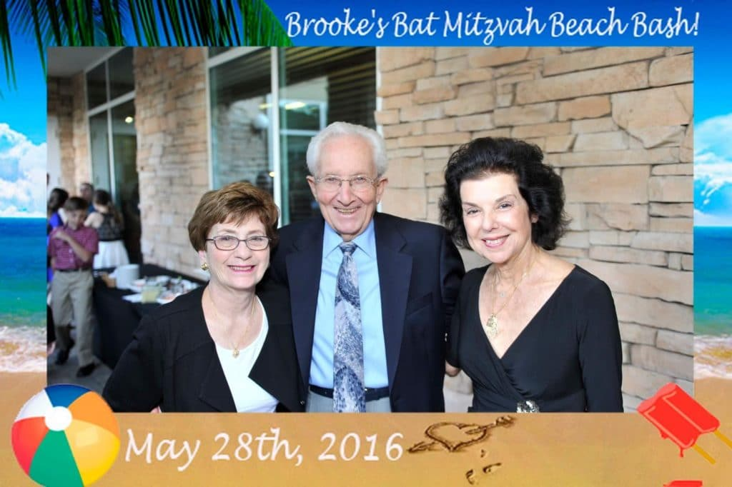 a grand parents picture taken at a bat mitzvah by mag-nificent
