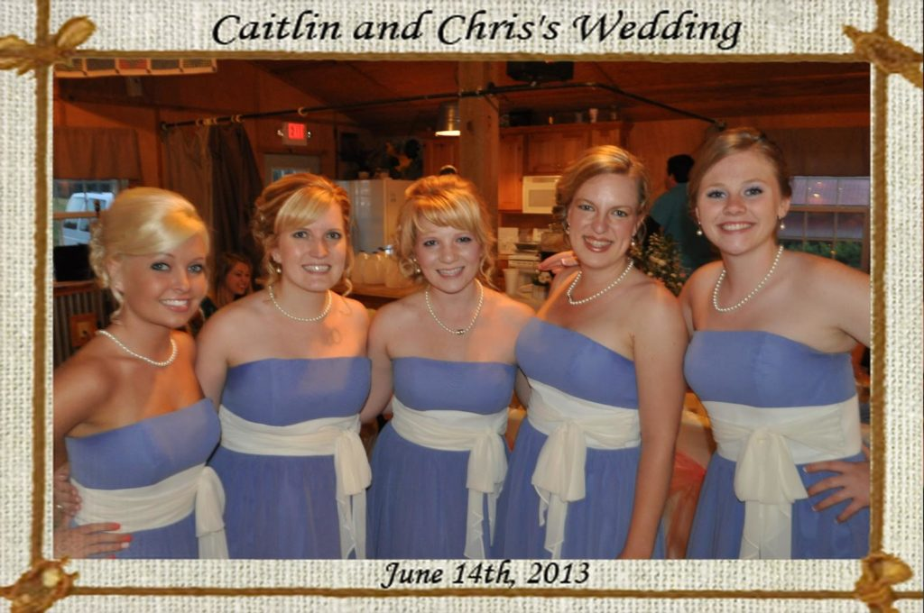 A mag-nificent print of bridesmaids at a wedding