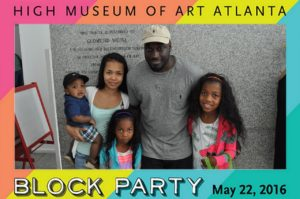 A mag-nificent photo from a block party at the High Museum of Art in Atlanta