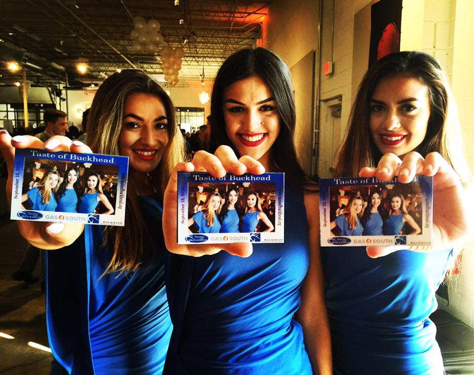 A group of girls with Taste of Buckhead mag-nificent photo magnets