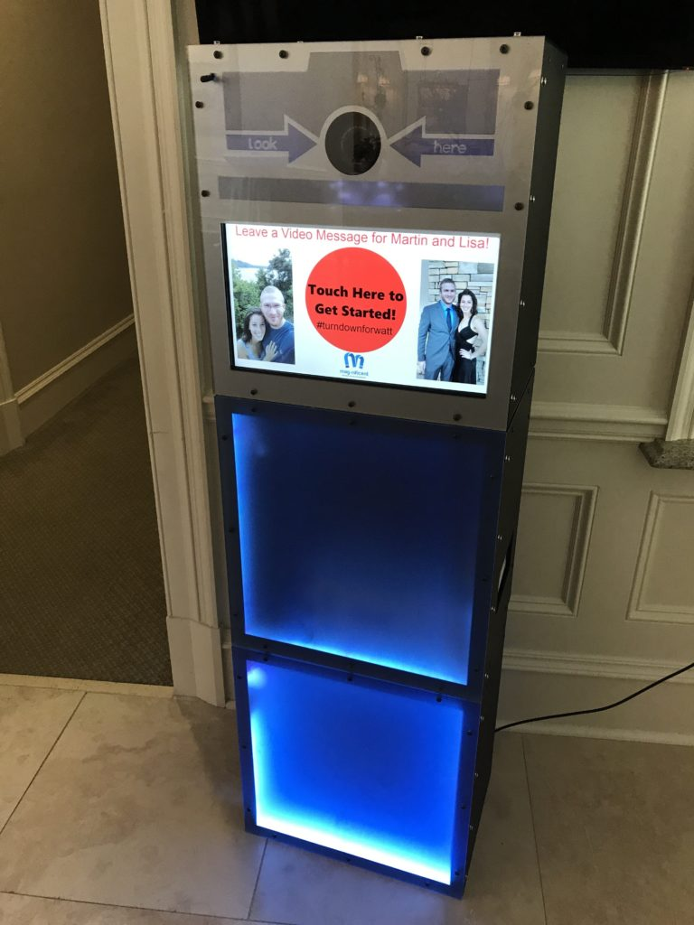 mag-nificent wedding video message kiosk