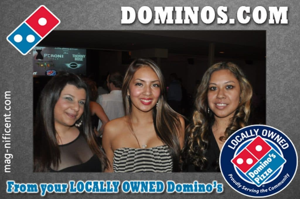 A mag-nificent photo at a dominos promotion