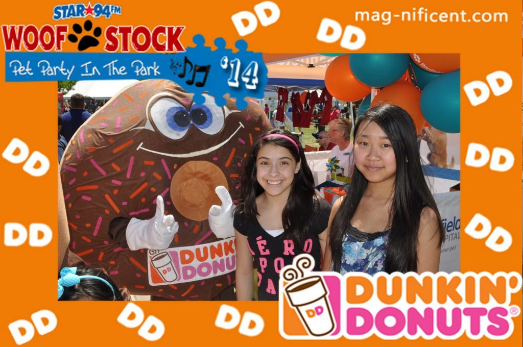 A mag-nificent photo from a dunkin donuts promotion