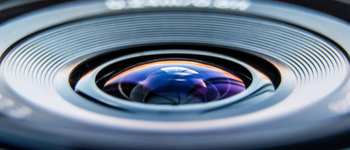 Close up of a dslr camera lens