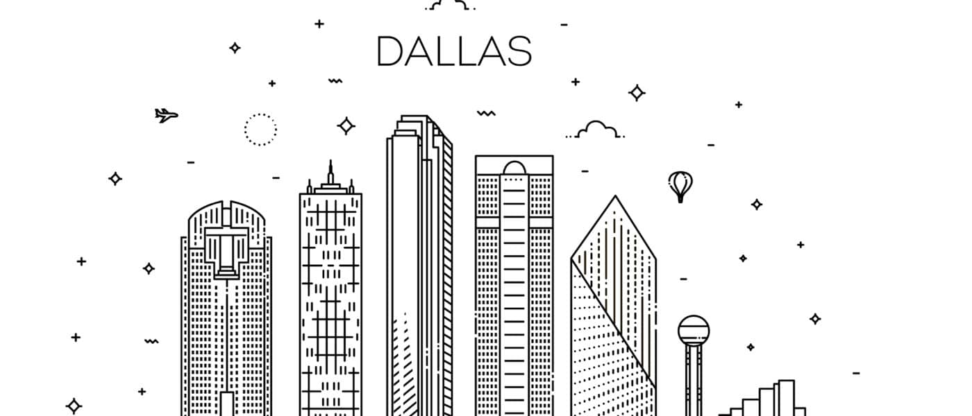 Illustration of the Dallas skyline.