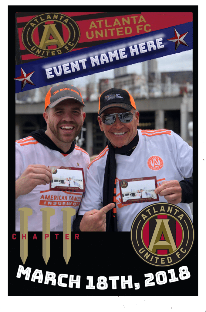 Mag-nificent trading card featuring two men in soccer jerseys.